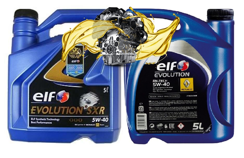 elf evolution sxr 5w40 и elf evolution rn tech 5w40